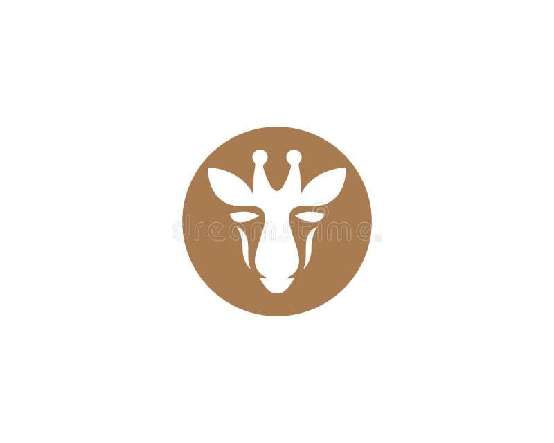 Calibre de logo de girafe illustration stock