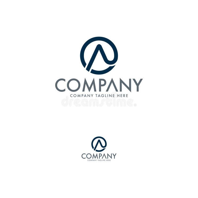 Calibre de logo de la lettre A d'élite illustration stock