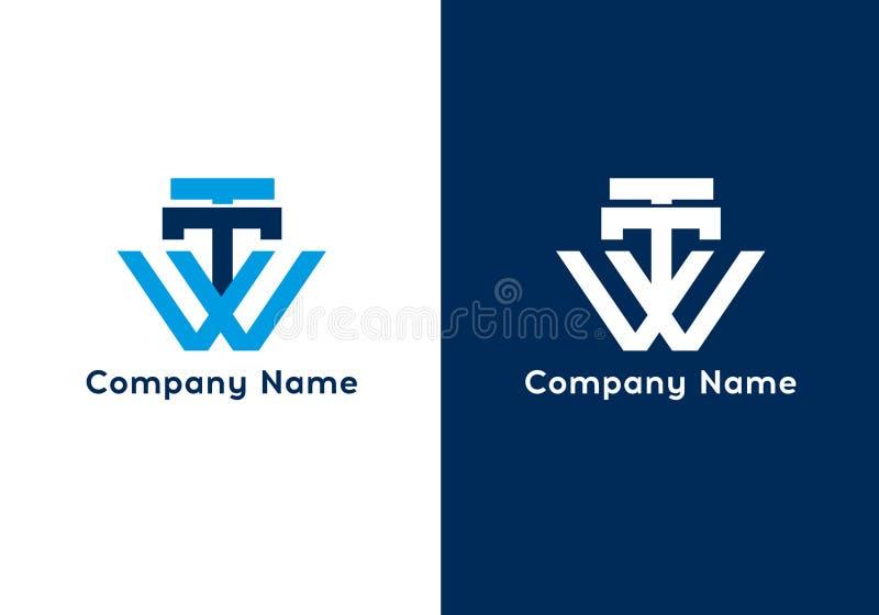 Calibre de logo de la lettre TTW Signe de la meilleure qualité d'affaires de monogramme Icône universelle de vecteur illustration de vecteur