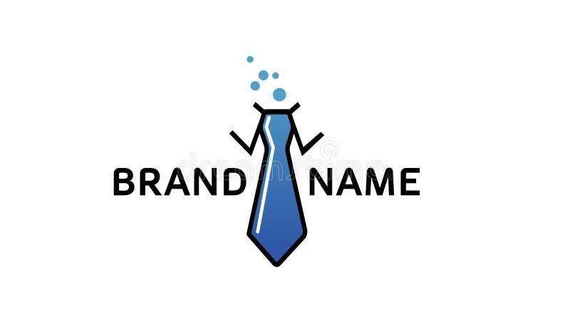 Calibre de logo de lien de laboratoire illustration de vecteur