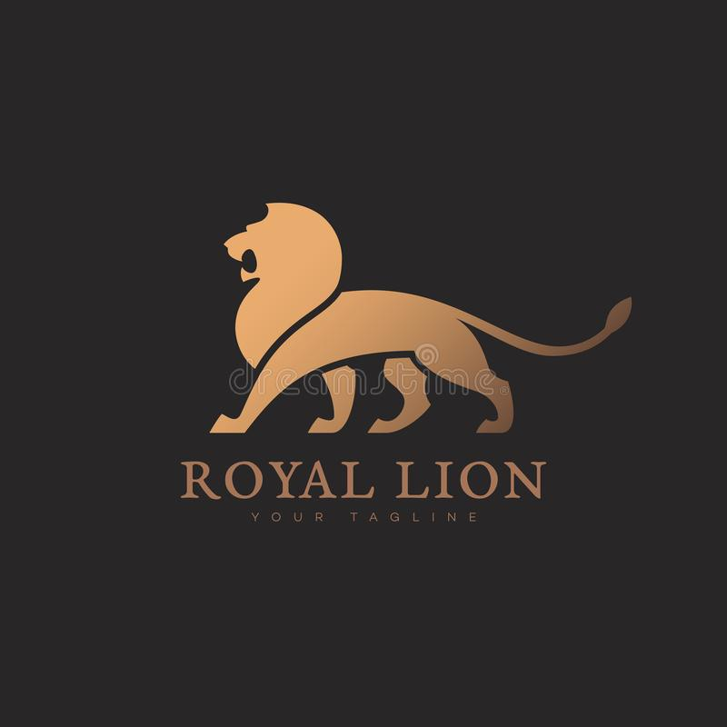 Calibre de logo de lion illustration stock