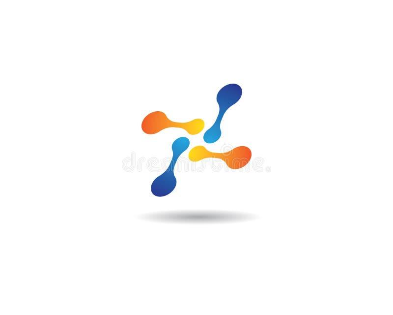 Calibre de logo de molécule illustration stock