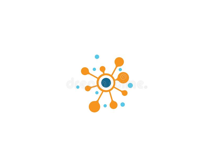Calibre de logo de molécule illustration libre de droits