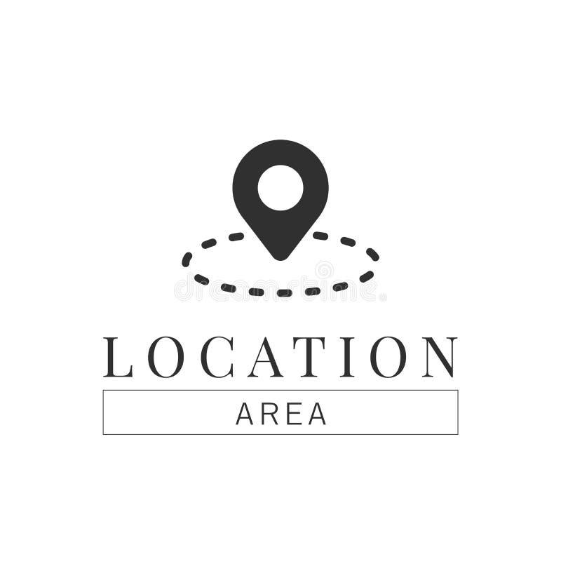 Calibre de logo de navigation de goupille d'emplacement illustration libre de droits