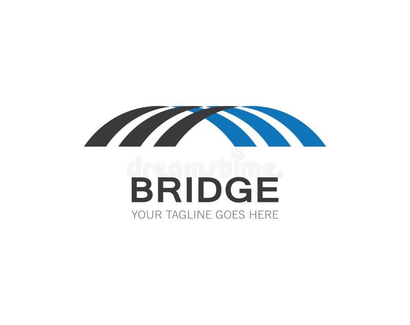 Calibre de logo de pont illustration de vecteur