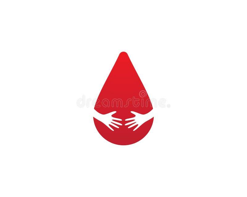 Calibre de logo de sang illustration stock