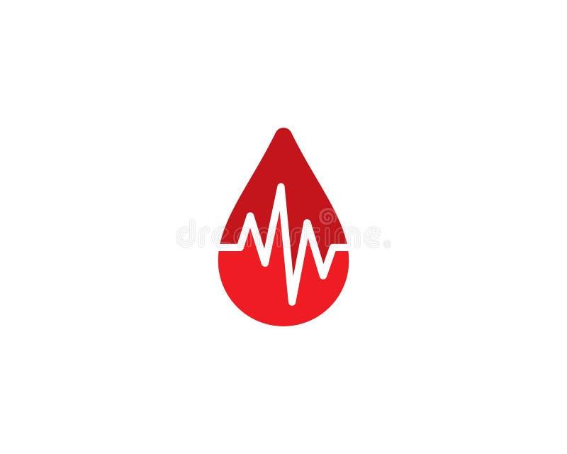 Calibre de logo de sang illustration de vecteur