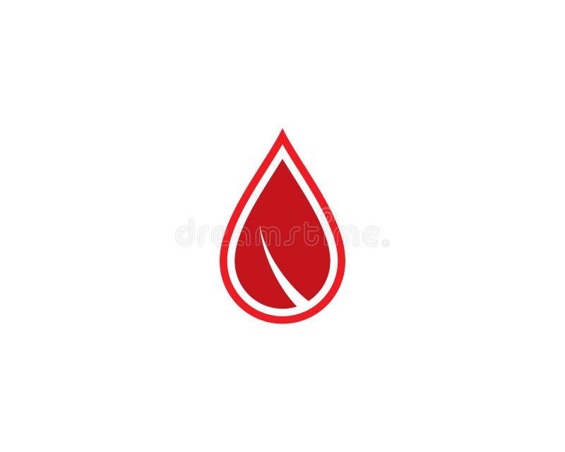 Calibre de logo de sang illustration libre de droits