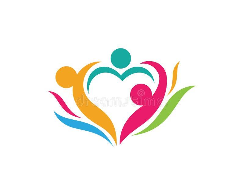 Calibre de logo de soins de santé communautaires illustration de vecteur