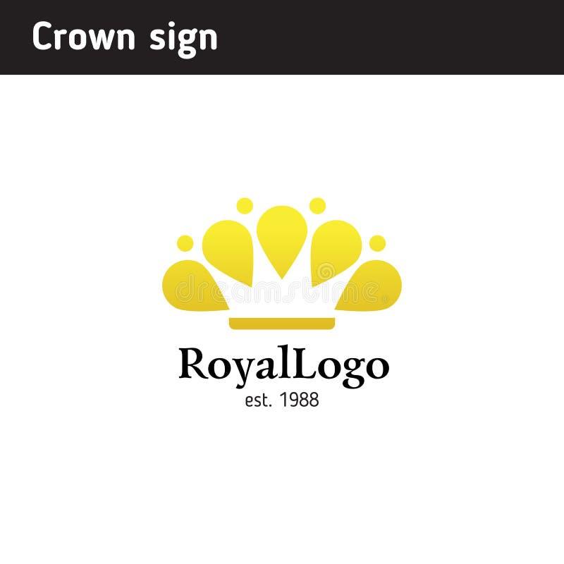 Calibre de logo sous forme de couronne illustration stock
