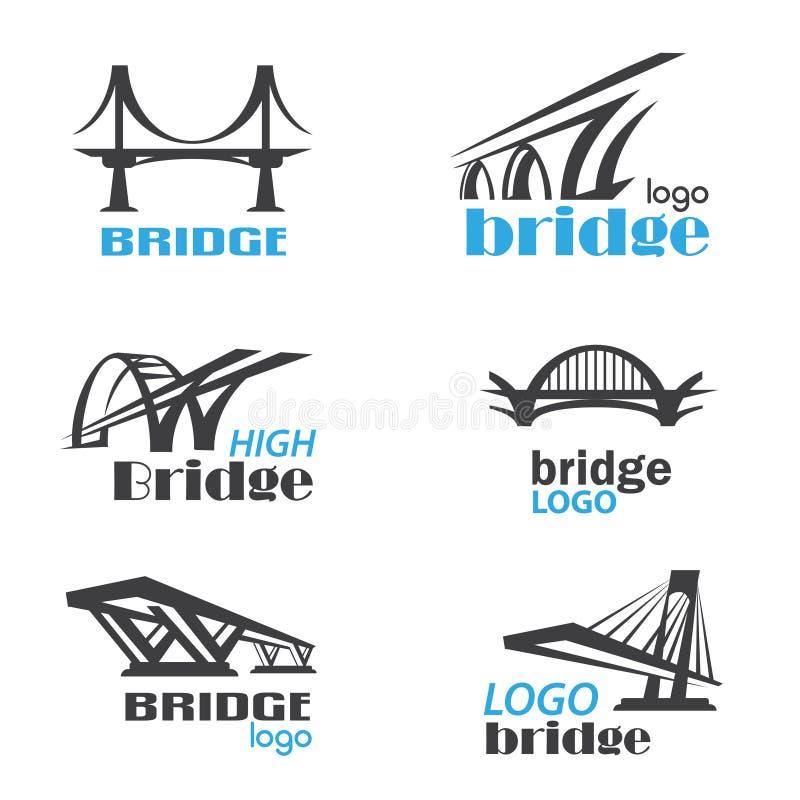 Calibre de logo de symbole de pont illustration libre de droits