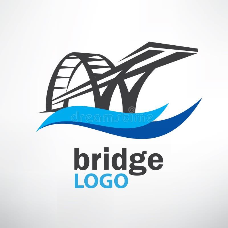 Calibre de logo de symbole de pont illustration de vecteur