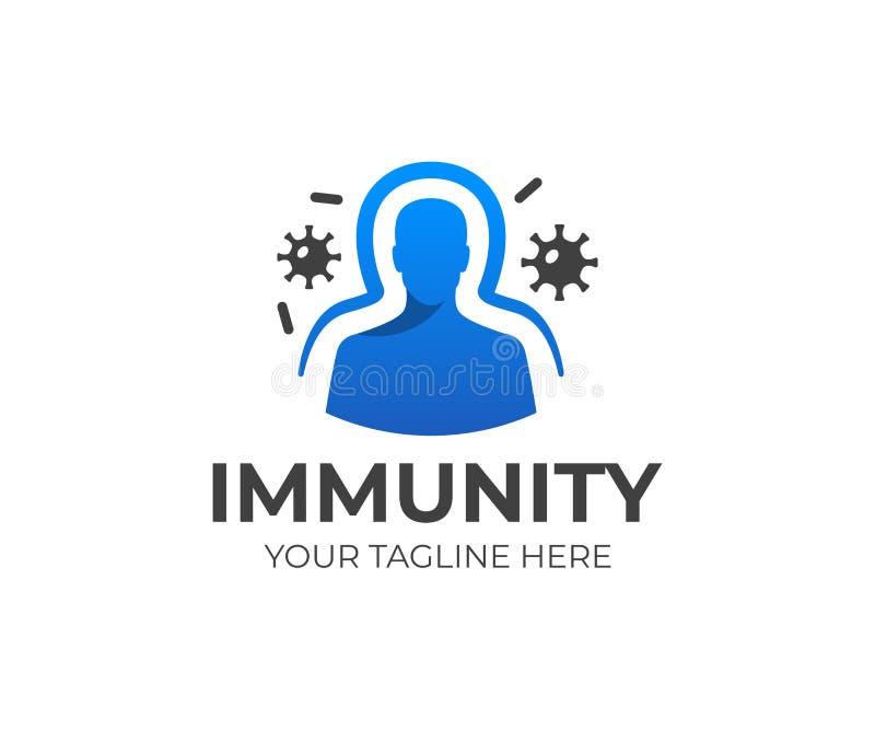 Calibre de logo de système d'immunité Conception humaine de vecteur de système immunitaire illustration stock