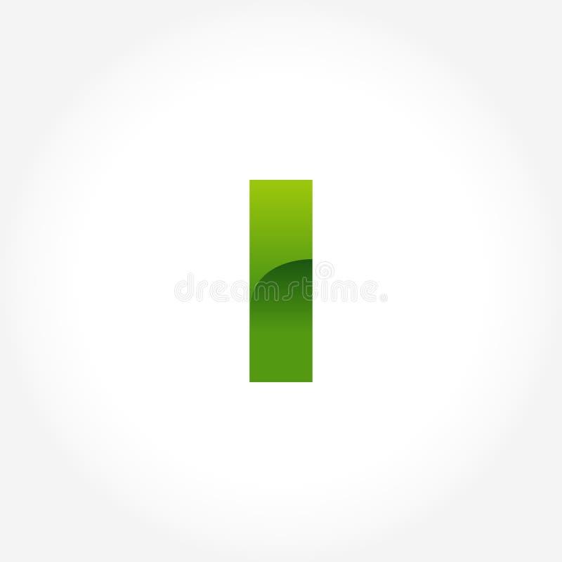 calibre de logo de vert de la lettre i conception de logotype d'alphabet illustration libre de droits