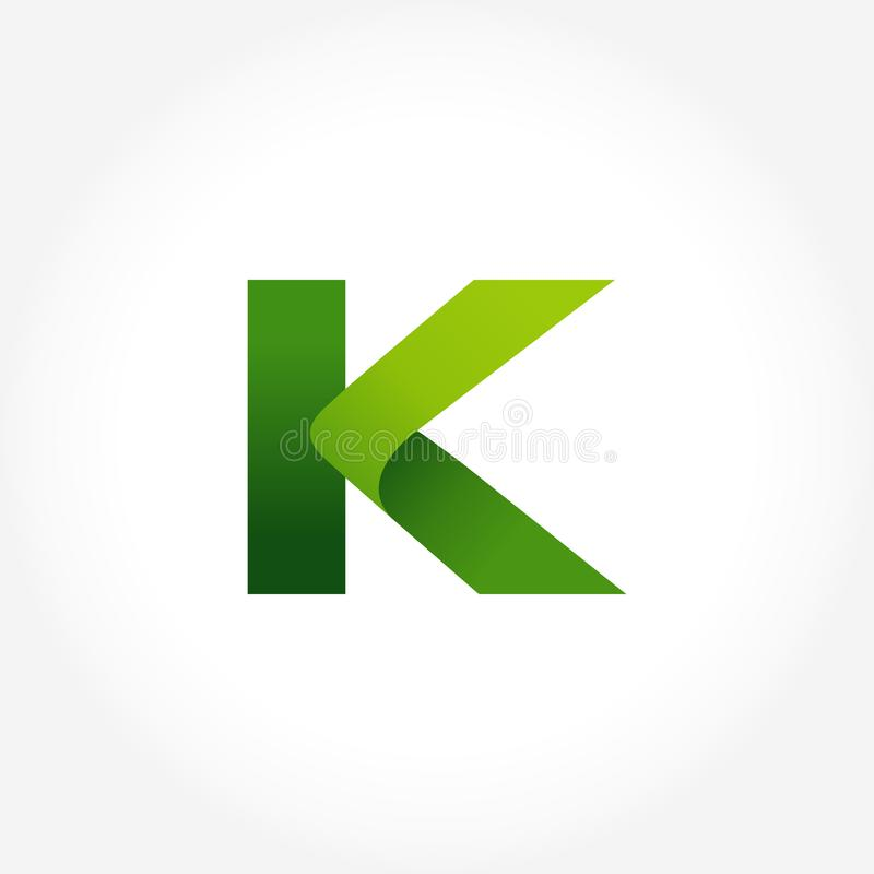 calibre de logo de vert de la lettre k conception de logotype d'alphabet illustration stock