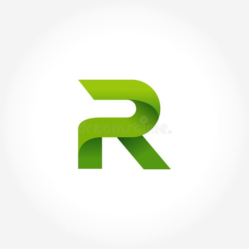 calibre de logo de vert de la lettre r conception de logotype d'alphabet illustration stock
