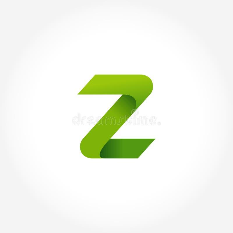 calibre de logo de vert de la lettre z conception de logotype d'alphabet illustration de vecteur