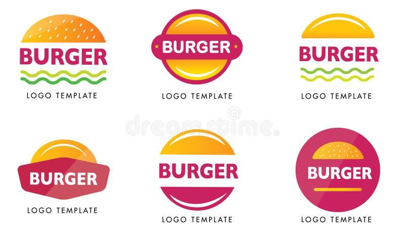 Calibre de logos d'hamburger de stupéfaction prêt à employer illustration libre de droits