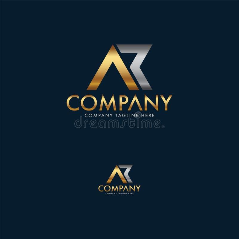 Calibre de luxe de conception de logo d'AK illustration de vecteur