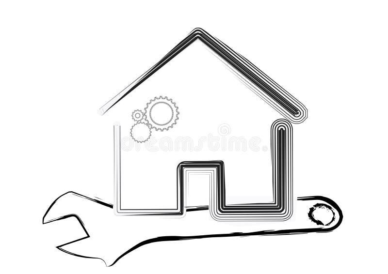 Calibre de maison sous le concept d'entretien illustration stock