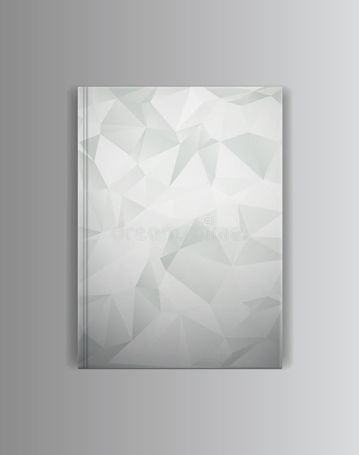 Calibre de maquette de livre de couverture de vecteur Préparez pour placer votre image illustration de vecteur