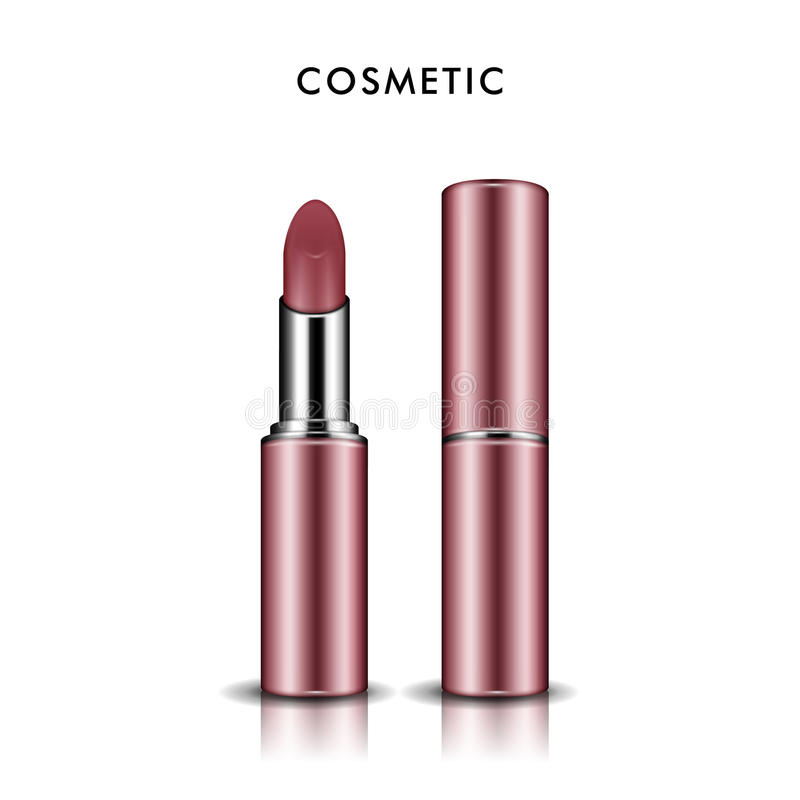 Calibre de maquette de rouge à lèvres illustration stock
