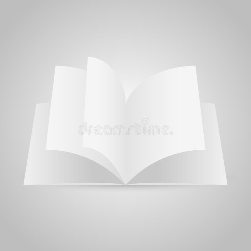 Calibre de maquette de magazine ouvert par blanc réaliste Vecteur illustration stock