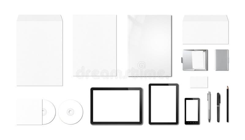 Calibre de marquage à chaud d'entreprise de maquette, fond blanc photographie stock libre de droits