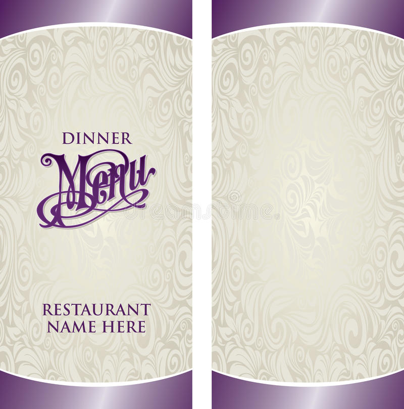Calibre de menu illustration libre de droits