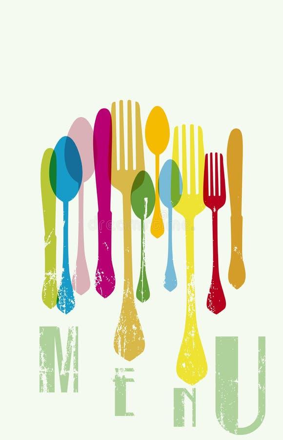 Calibre de menu de restaurant, illustration libre de droits