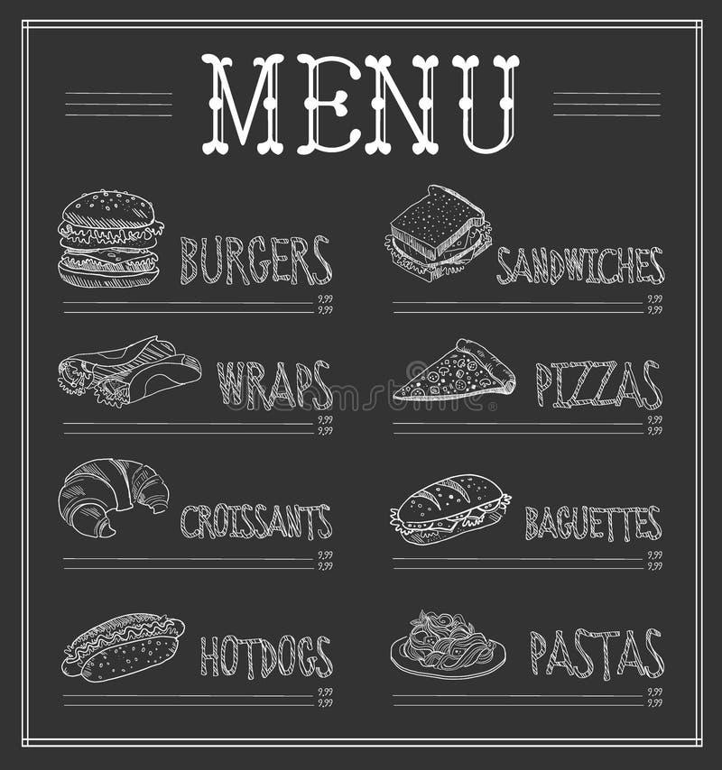 Calibre de menu de tableau Illustration de vecteur illustration libre de droits