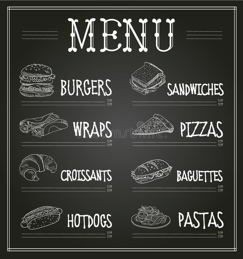 Calibre de menu de tableau Illustration de vecteur illustration de vecteur