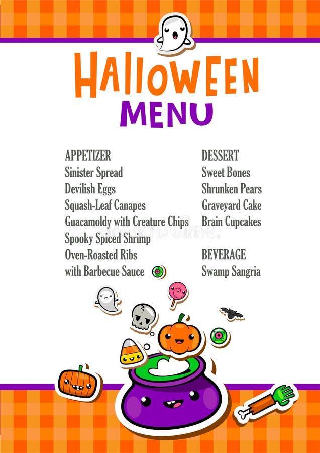 Calibre de menu de Halloween illustration libre de droits