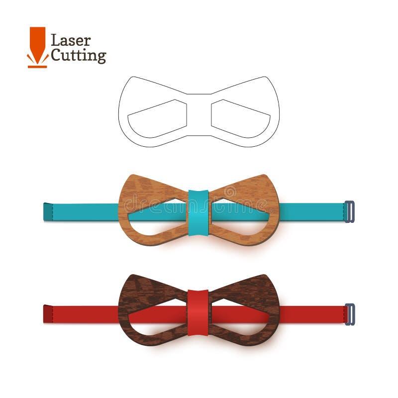 Calibre de noeud papillon de coupe de laser pour DIY Dirigez la silhouette avec les oreilles de chat mignonnes pour couper un noe illustration stock