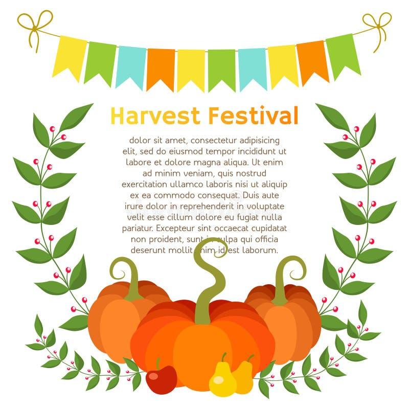 Calibre de page de festival de récolte d'automne illustration stock