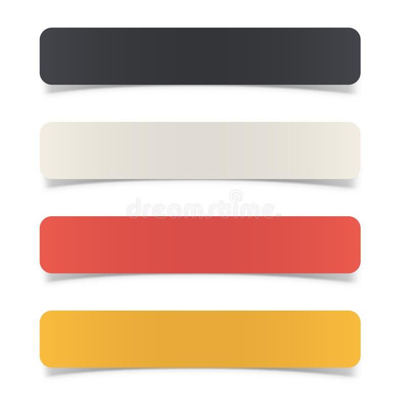 Calibre de papier de bannière incurvé par couleur illustration stock