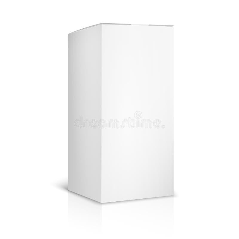 Calibre de papier blanc ou de boîte en carton sur le blanc illustration de vecteur