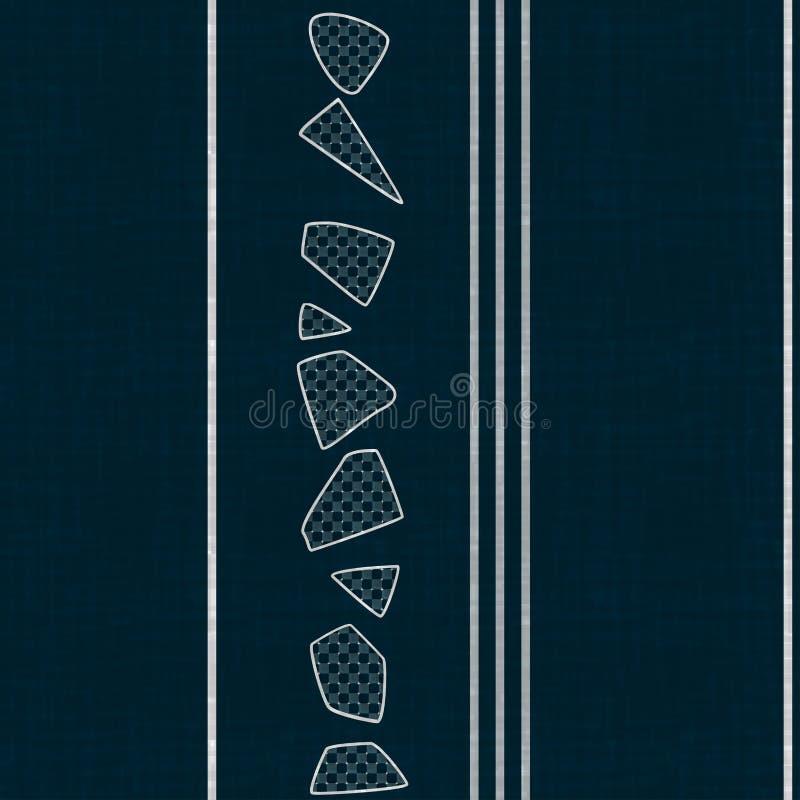 Calibre de papier peint avec la texture sans couture originale moderne illustration libre de droits