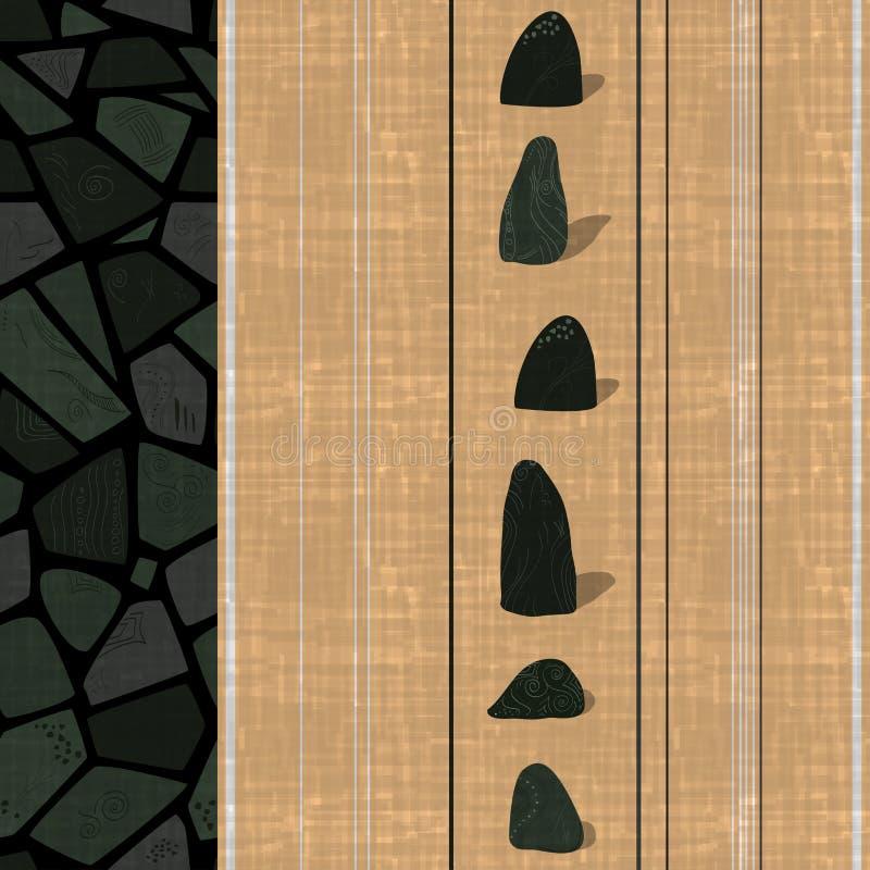 Calibre de papier peint avec la texture sans couture originale moderne illustration de vecteur