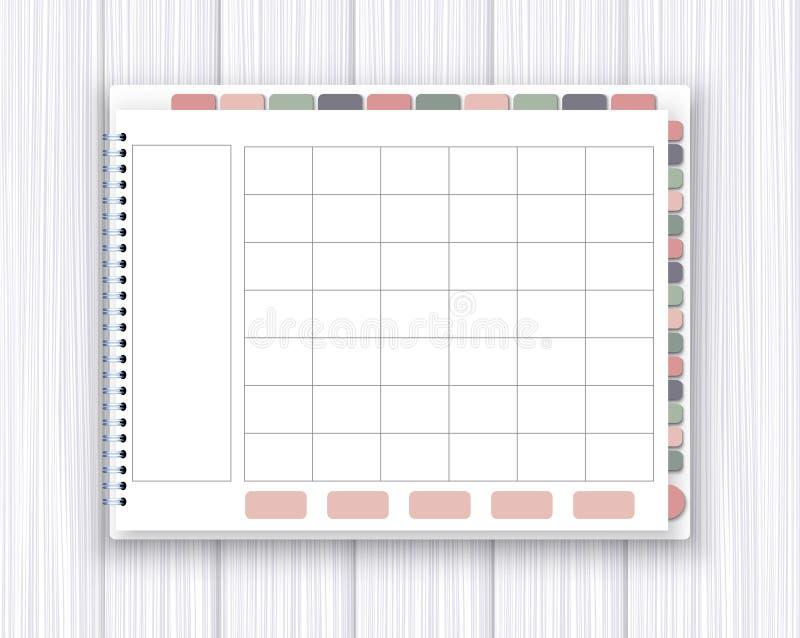 Calibre de planificateur de Digital illustration de vecteur