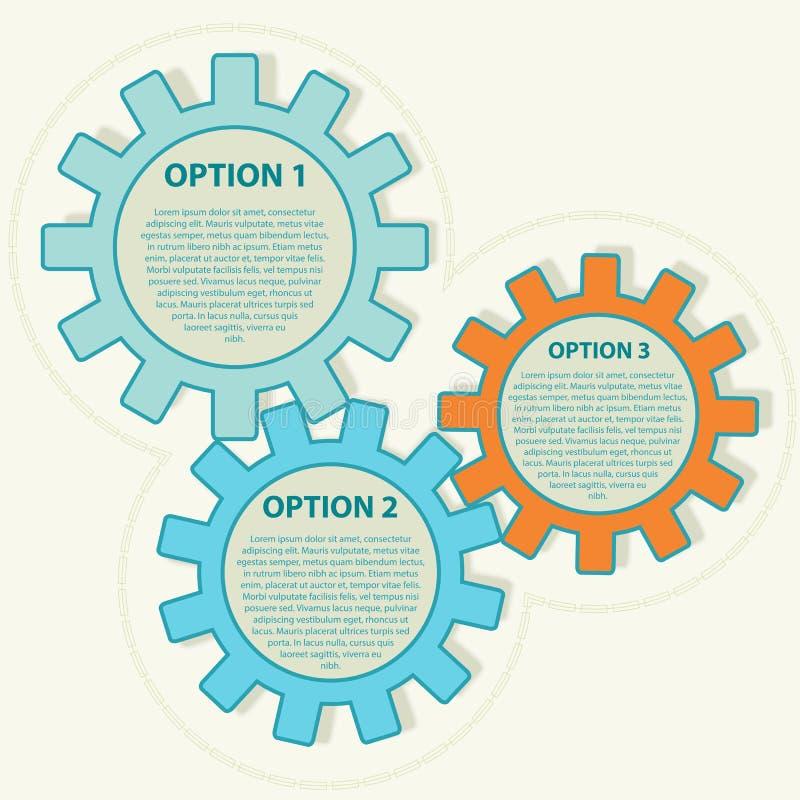 Calibre de présentation avec trois options. Vecteur i illustration de vecteur