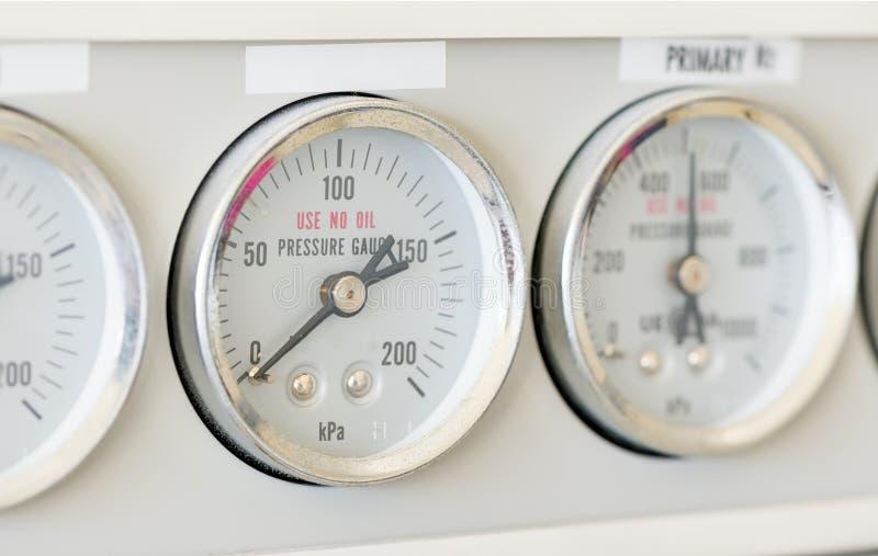Calibre de pressão da cromatografia de gás foto de stock