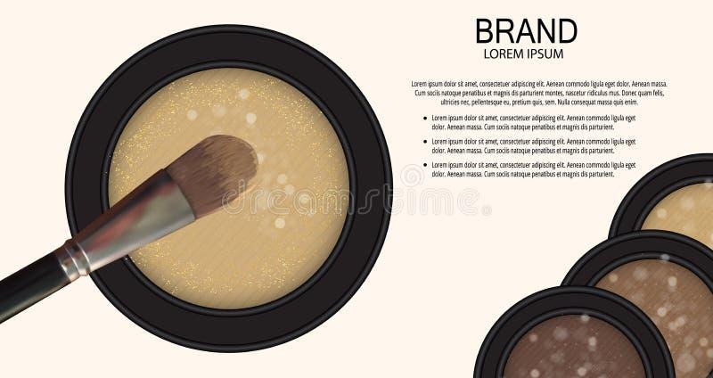 Calibre de produit de cosmétiques de conception pour les annonces ou le fond de magazine 3D vecteur réaliste Iillustration illustration de vecteur