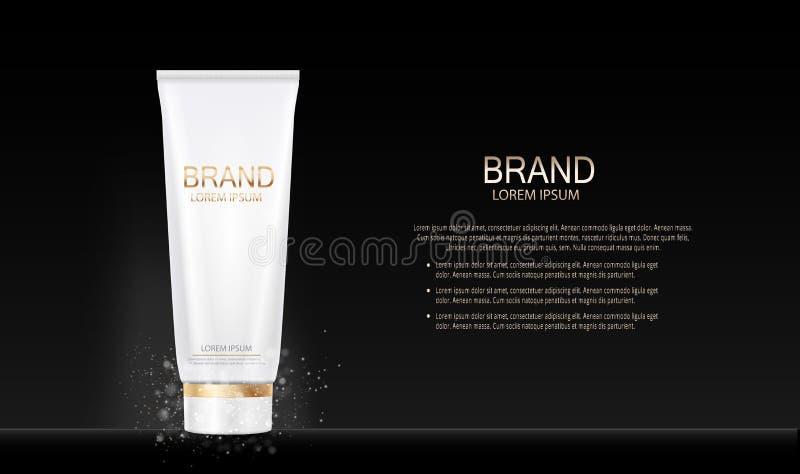Calibre de produit de cosmétiques de maquillage de conception de mode pour les annonces ou le fond de magazine Série Reportv de p illustration libre de droits