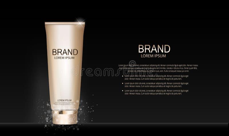 Calibre de produit de cosmétiques de maquillage de conception de mode pour les annonces ou le fond de magazine Série Reportv de p illustration de vecteur
