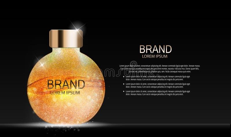Calibre de produit de cosmétiques de maquillage de conception de mode pour les annonces ou le fond de magazine Série Reportv de p illustration stock