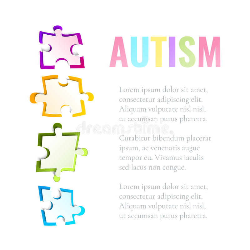 Calibre de puzzle de conscience d'autisme illustration de vecteur