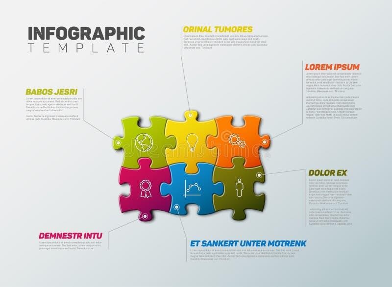 Calibre de rapport d'Infographic de puzzle de vecteur illustration de vecteur