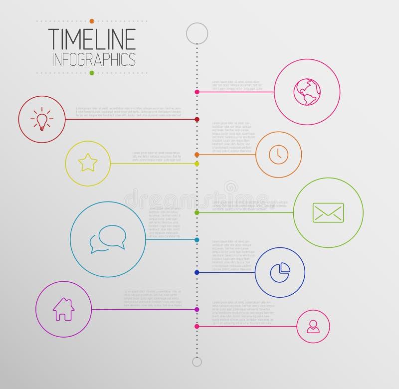 Calibre de rapport de chronologie d'Infographic illustration libre de droits