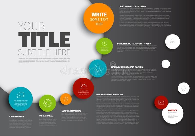 Calibre de rapport de chronologie d'Infographic de vecteur illustration stock